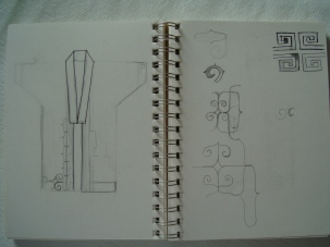 Second sketch: Haori (front)